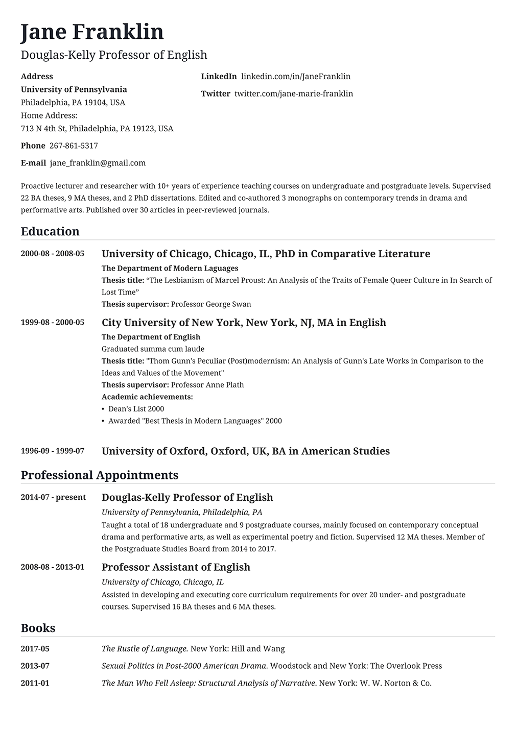 Contoh Cv Bahasa Inggris Paling Lengkap Dan Menarik