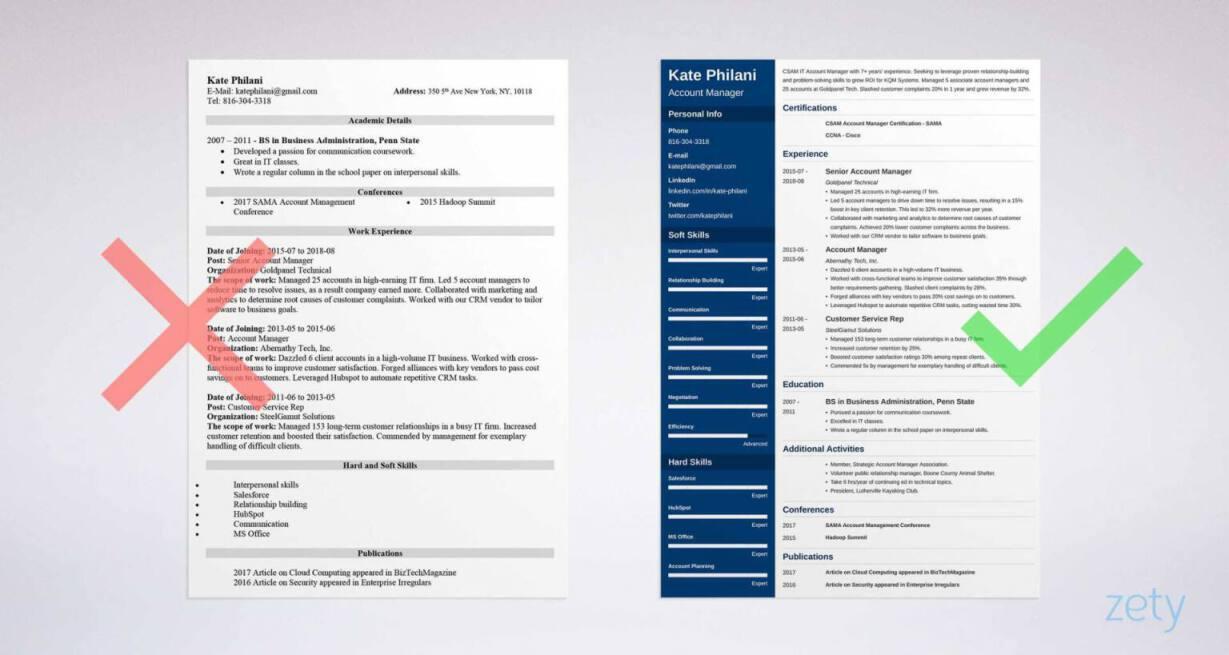 Zety Sales Resume Resume Examples Resume Template