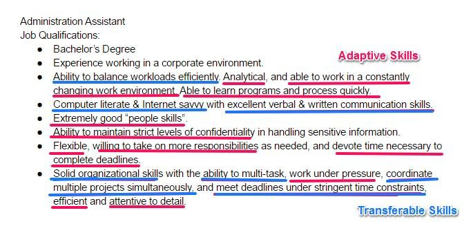 resume core strength examples for hands on work