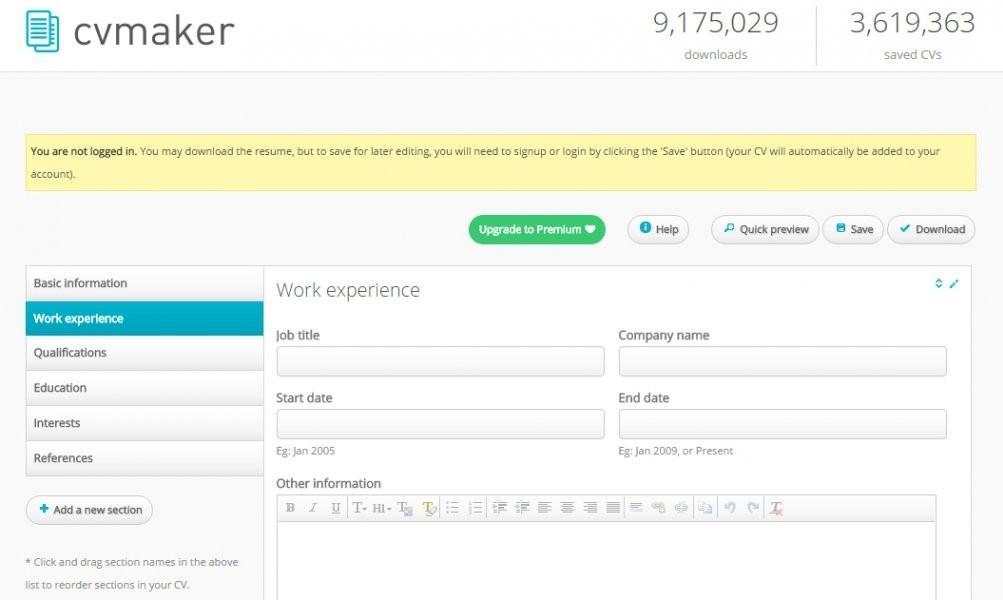 resume builder online paid