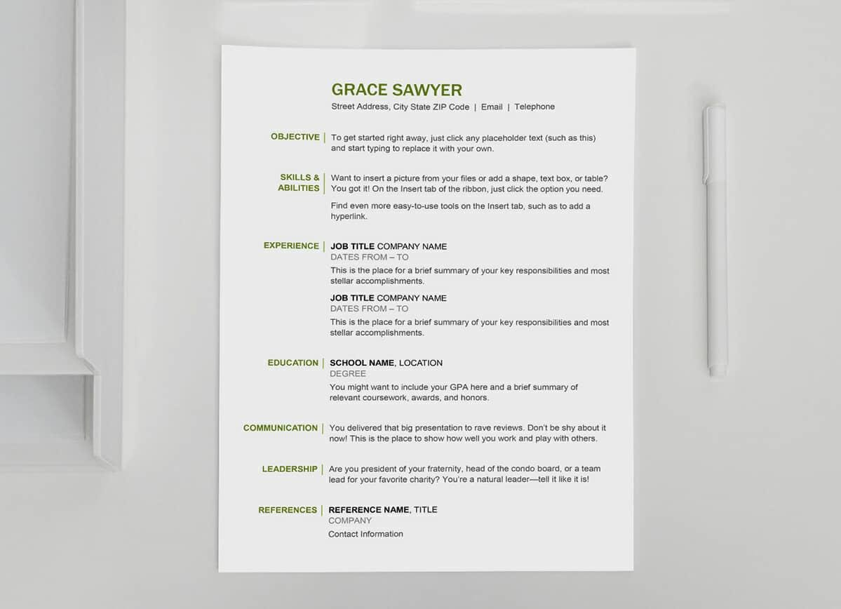 Free Basic Resume Template Basic Resume Templates 15 Examples To Download Use Now