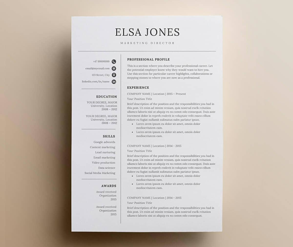 Basic Resume Templates 15 Examples To Download & Use Now
