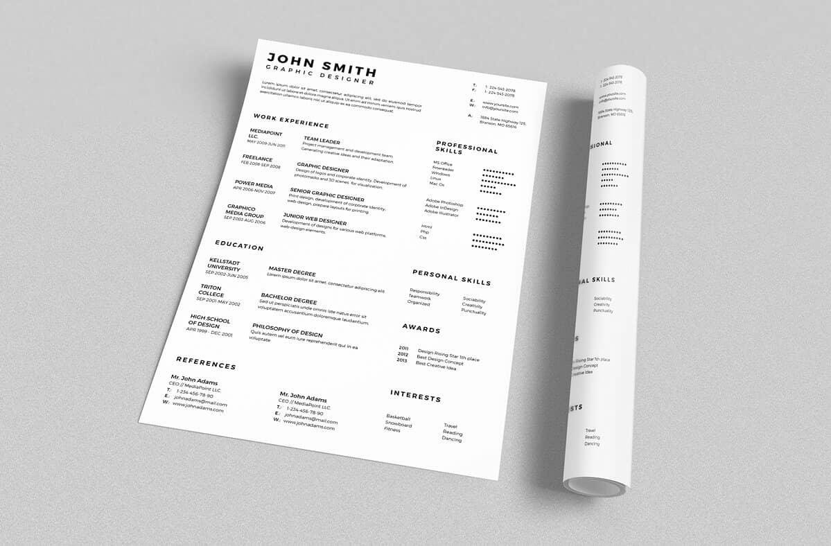Resume Template 2 Column Basic Resume Templates 15 43 Examples To Download And Use Now