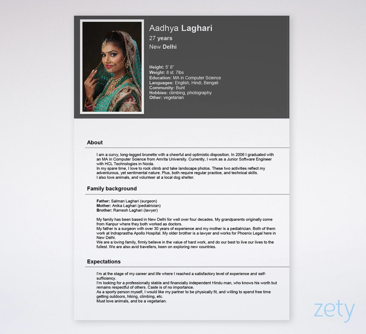 Biodata Format Free Templates For A Job & Marriage Free