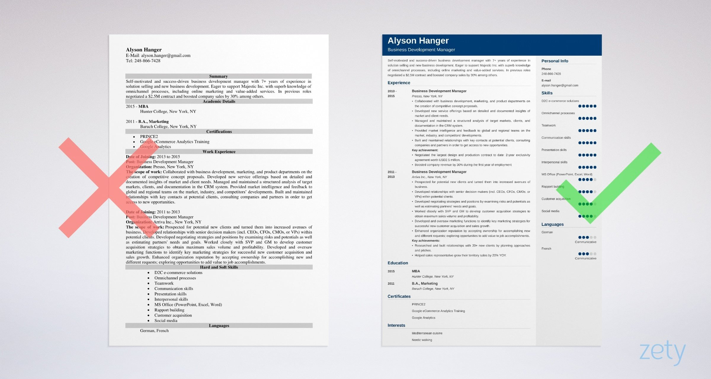 example of sales manager resume with omnichannel