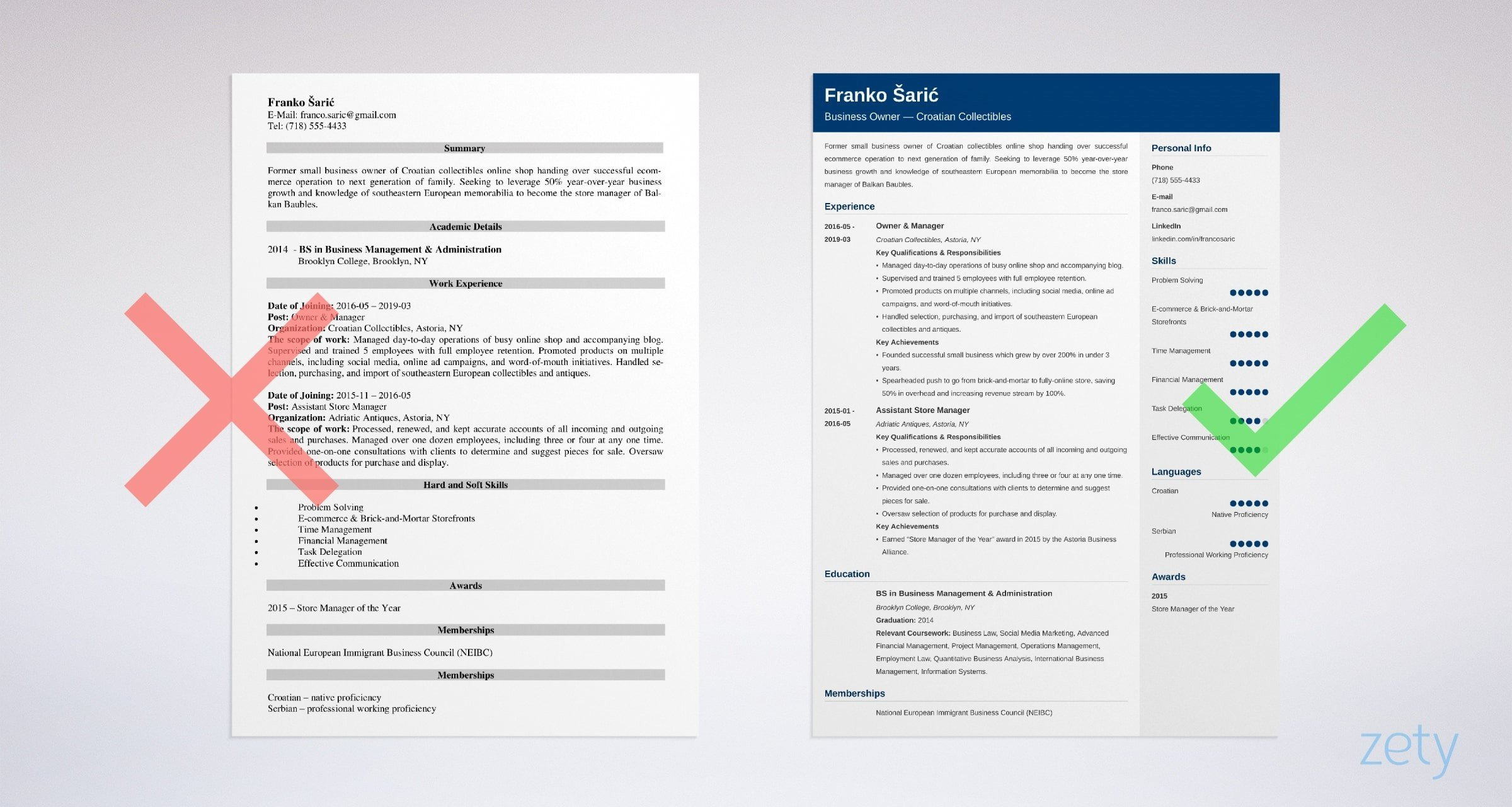 Business Management Resume Examples Former Business Owner Resume Sample Top Guide 20 Examples