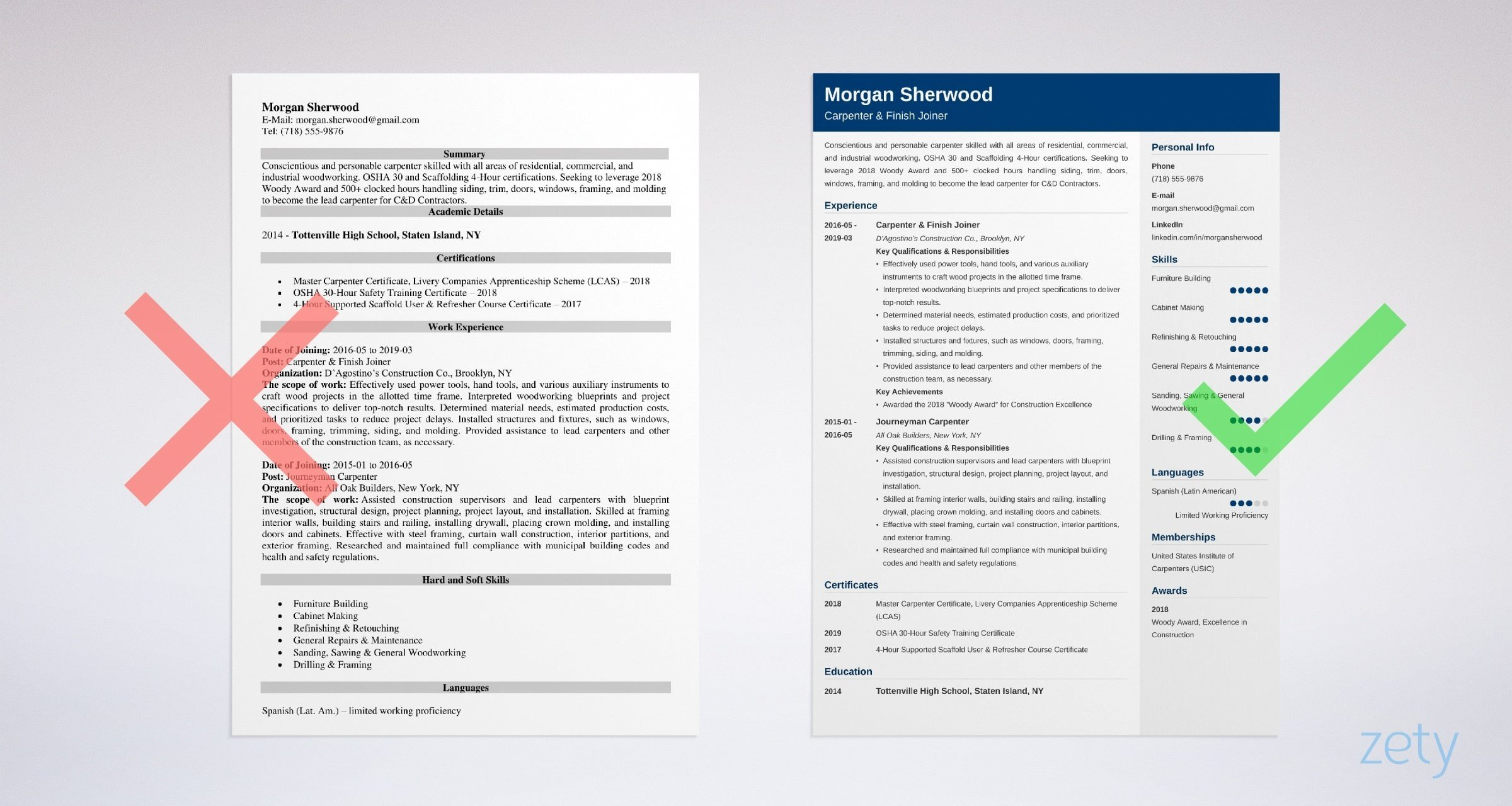 Carpenter resume, templates and cover letters plus an indeed job search engine to help you in your job search, 3 different carpenter resumes. Carpenter Resume Examples Job Description Skills Template
