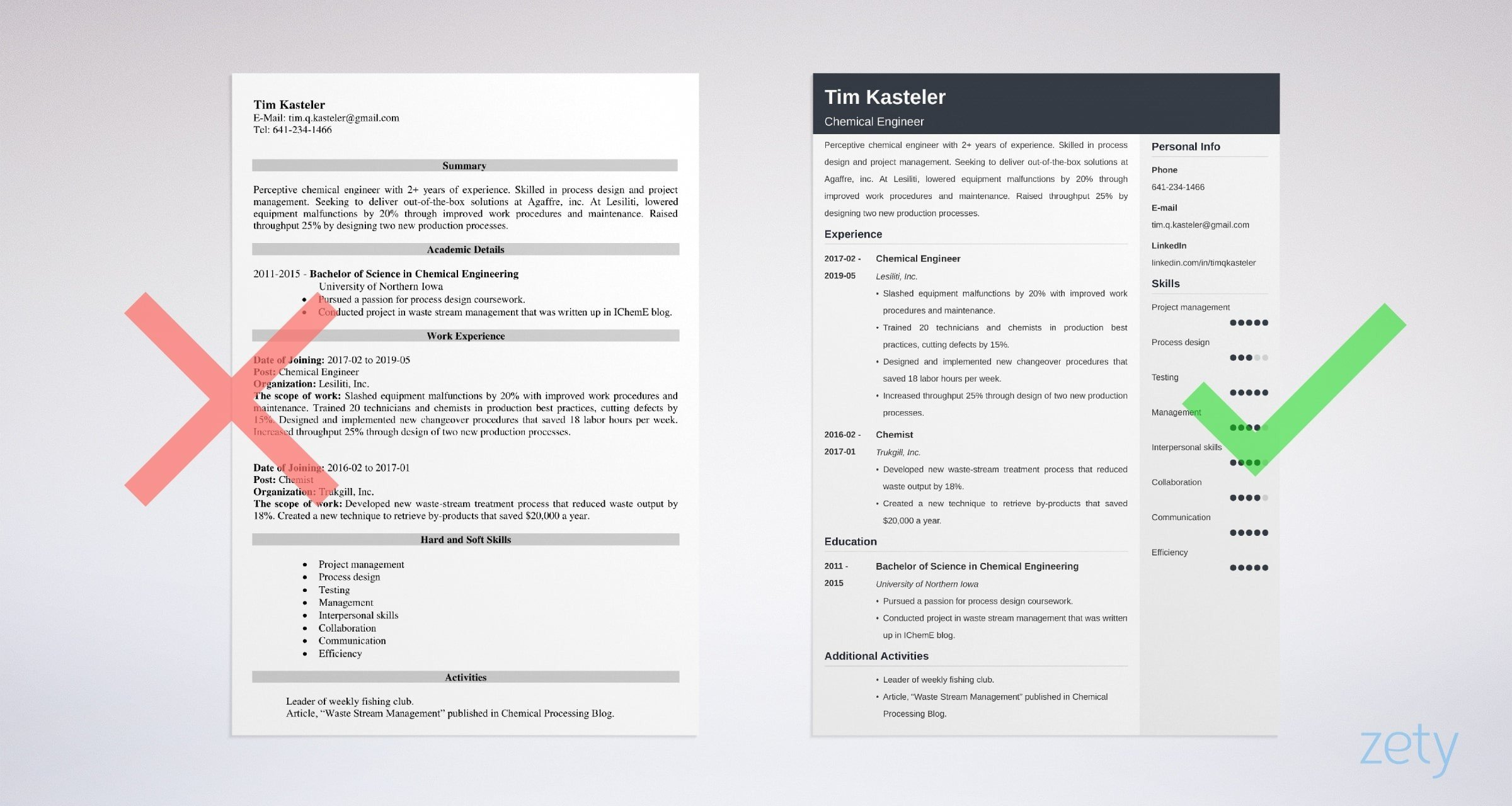 Chemical Engineer Resume Chemical Engineer Resume Sample And Full Writing Guide 20 Tips