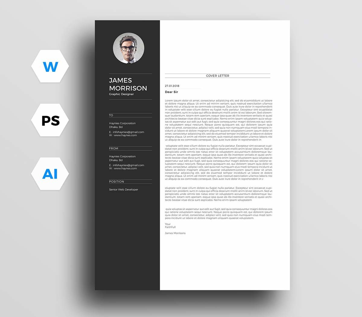 Free Sample Cover Letter For Resume 12 Cover Letter Templates For Word Best Free Downloadable Picks