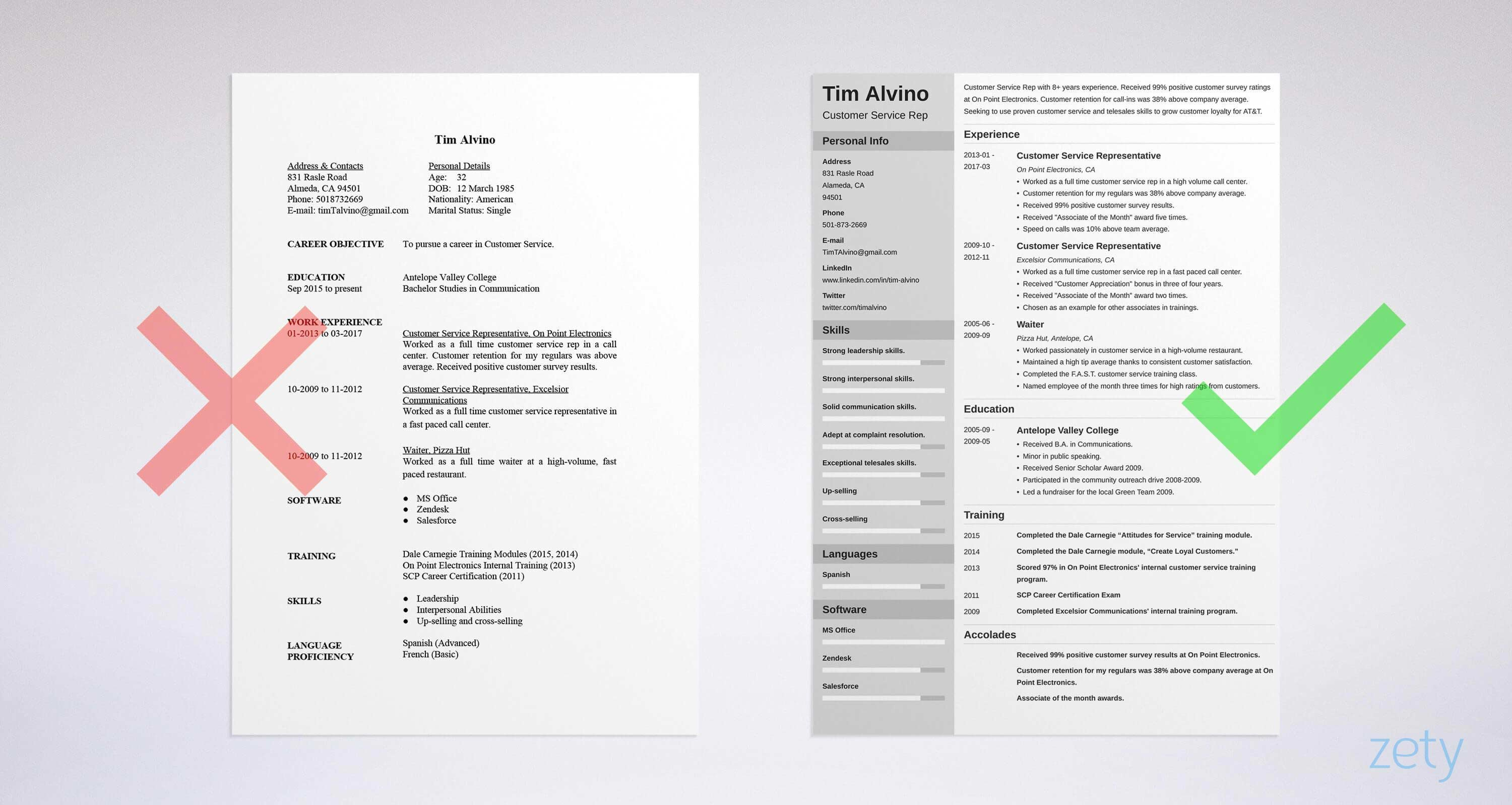 Customer Service Resume: Sample & Complete Guide [+20 Examples]