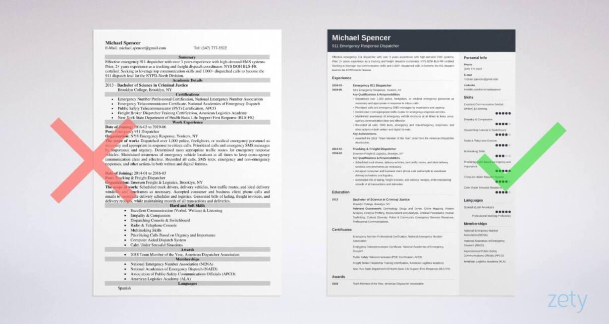 security dispatcher resume examples
