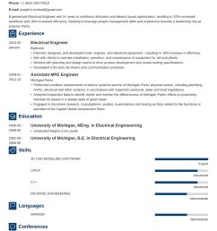 electrical engineering resume sample u0026 writing guide 20 examples electrical engineering 4 year [ 990 x 1400 Pixel ]