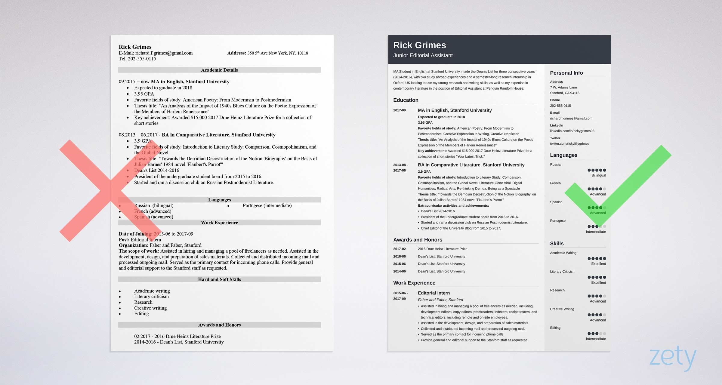 Example Resumes Entry Level Resume Sample And Complete Guide 20 Examples