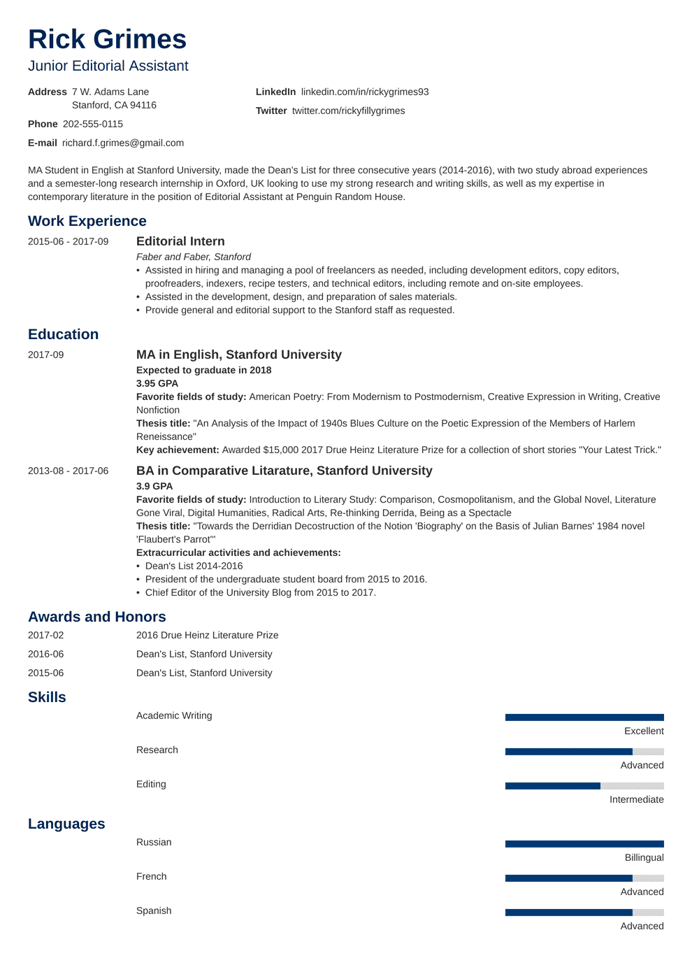 Good Resume Examples For First Job Entry Level Resume Sample And Complete Guide 20 Examples