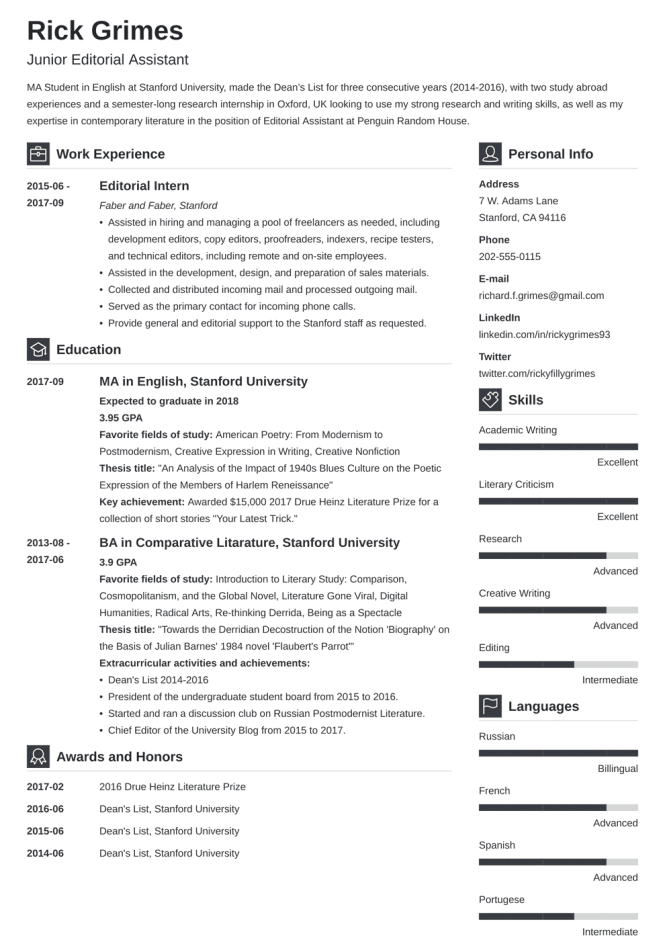 20 Entry Level Resume Examples
