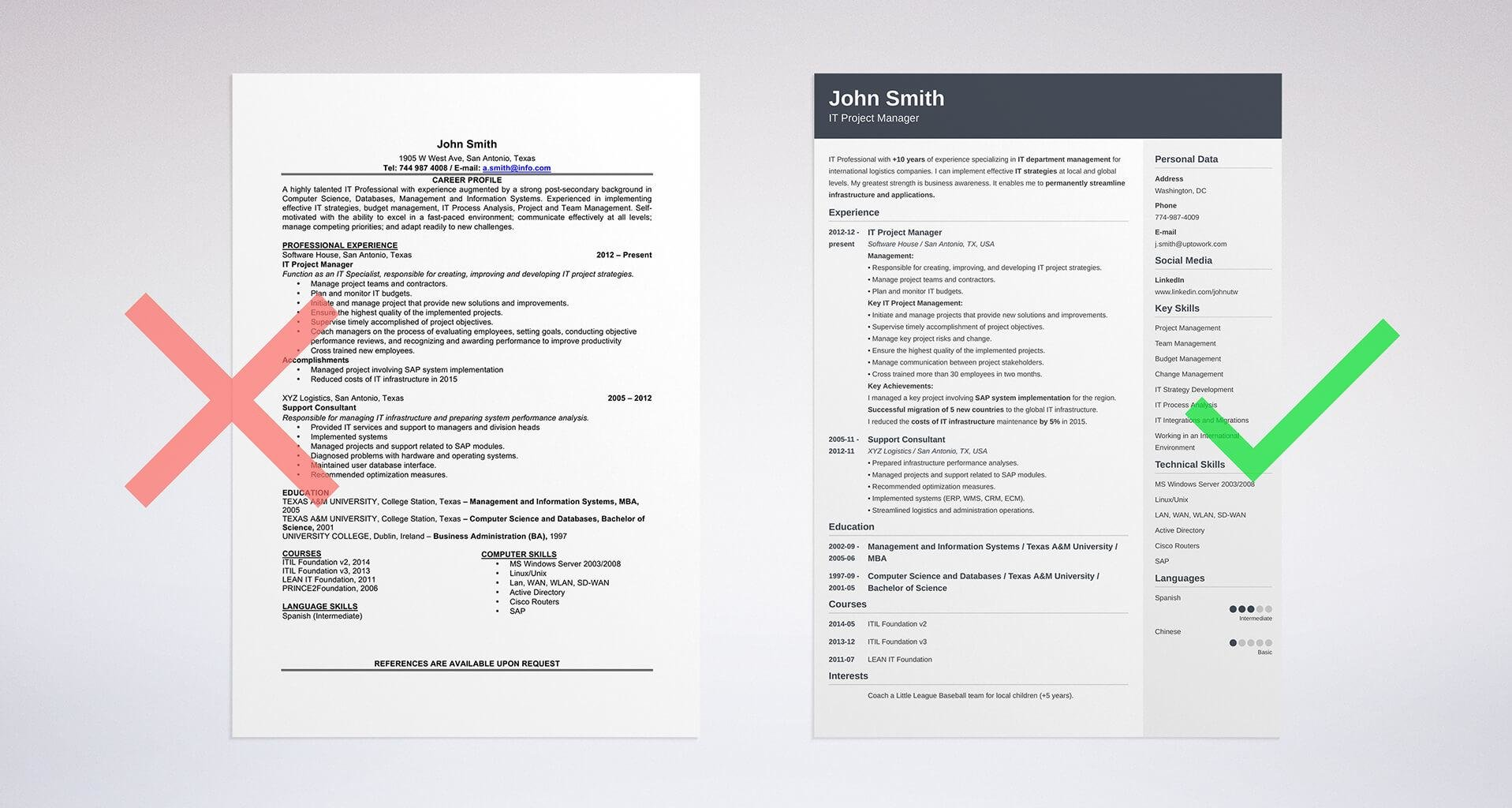 Top Ten Resume Formats Resume Format Samples And Templates For All Types Of Resumes 10