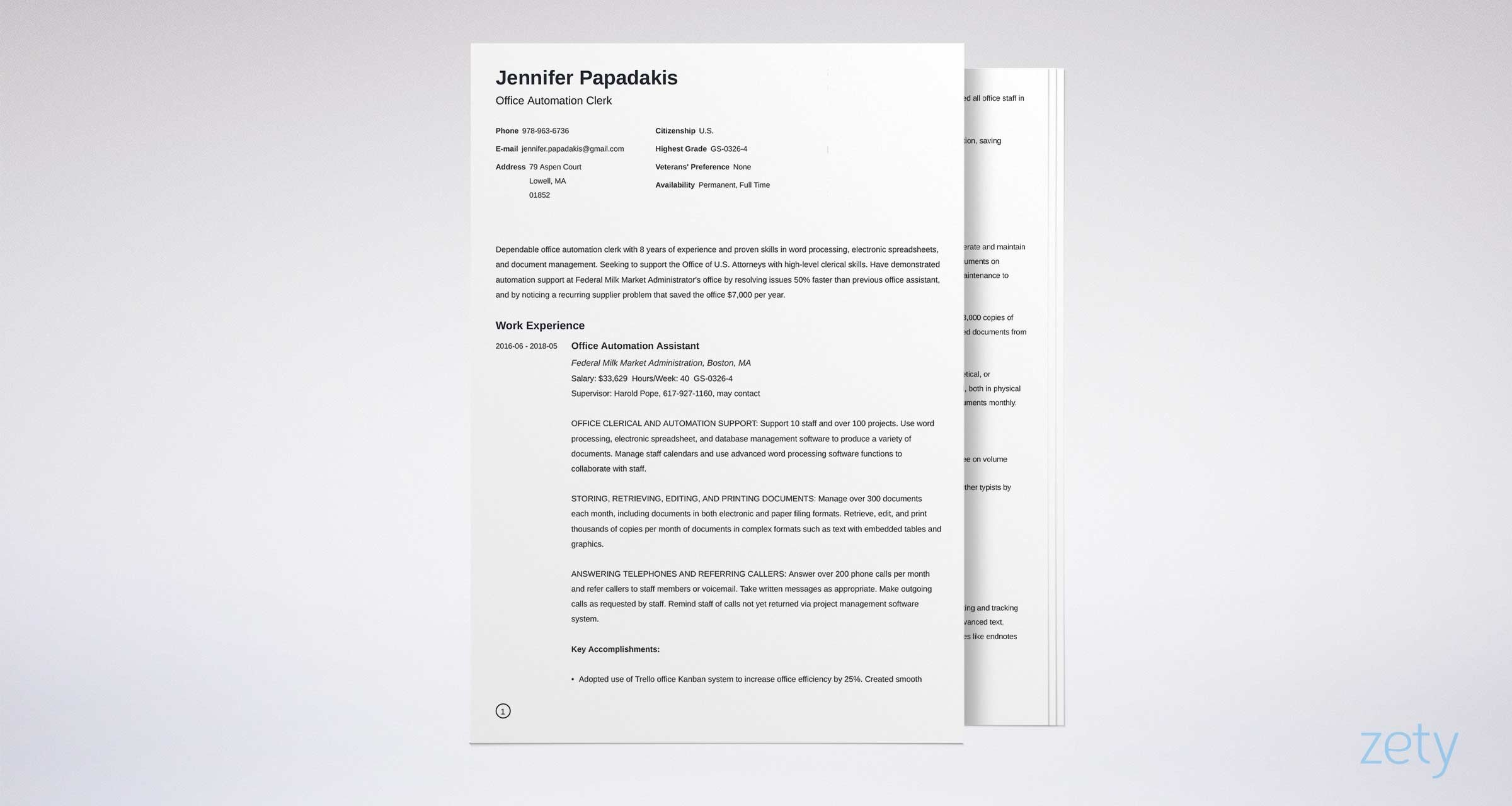 Federal Resume Templates Federal Resume Template And Complete Writing Guide 20 Examples