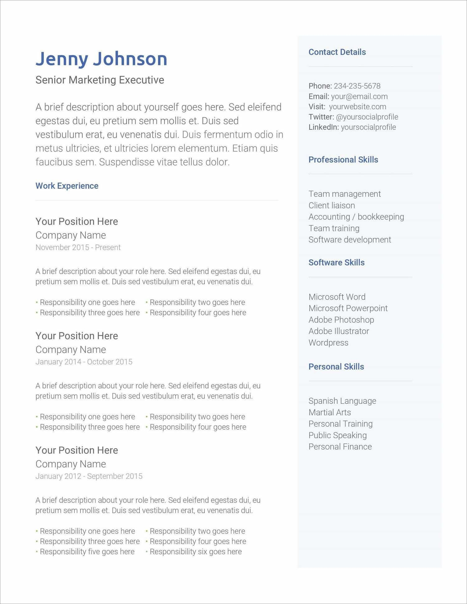 Creating the perfect resume couldn't get easier with our free resume builder! 17 Free Resume Templates For 2021 To Download Now