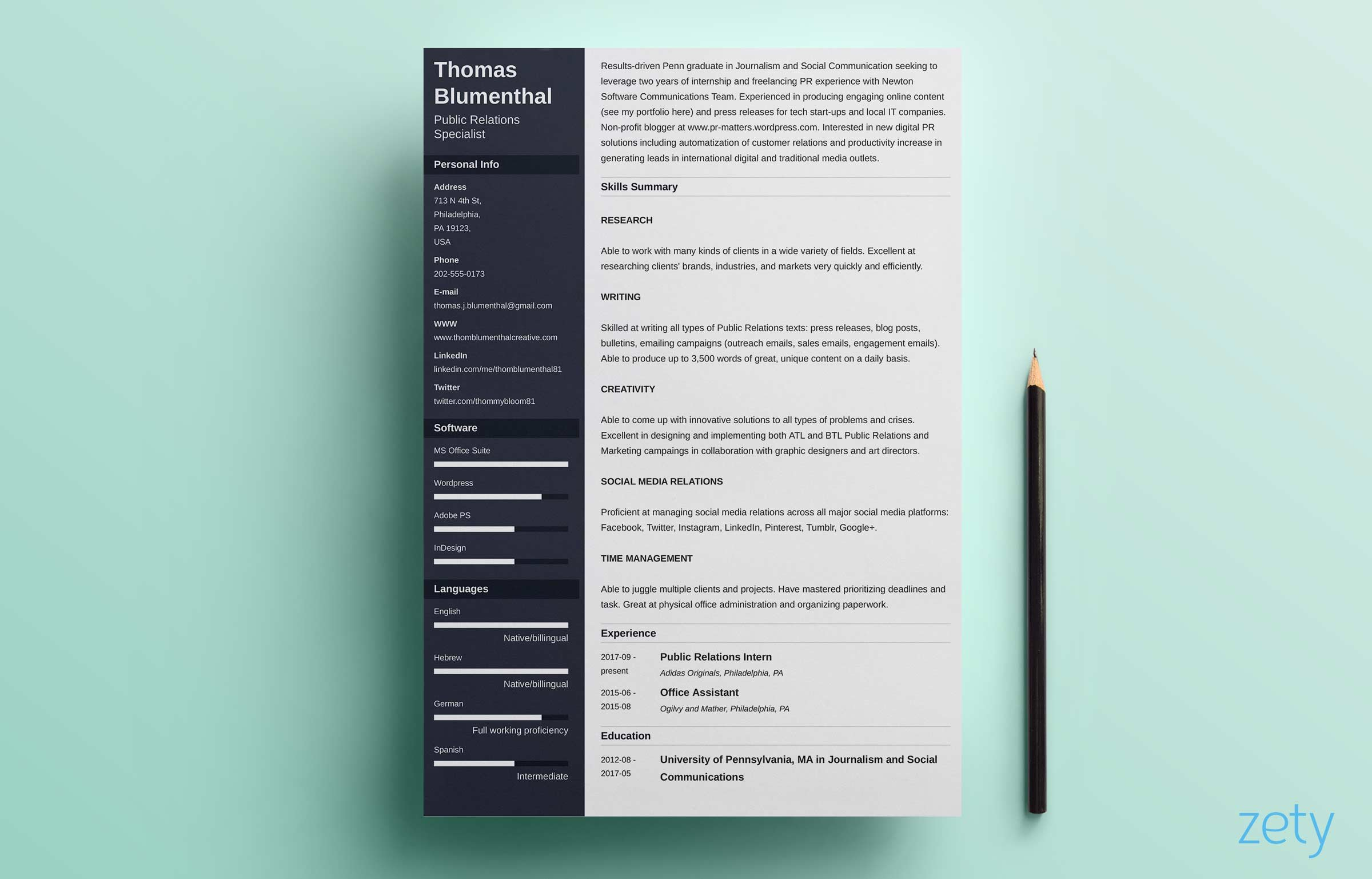 Is Zety Resume Free Resume Examples Resume Template