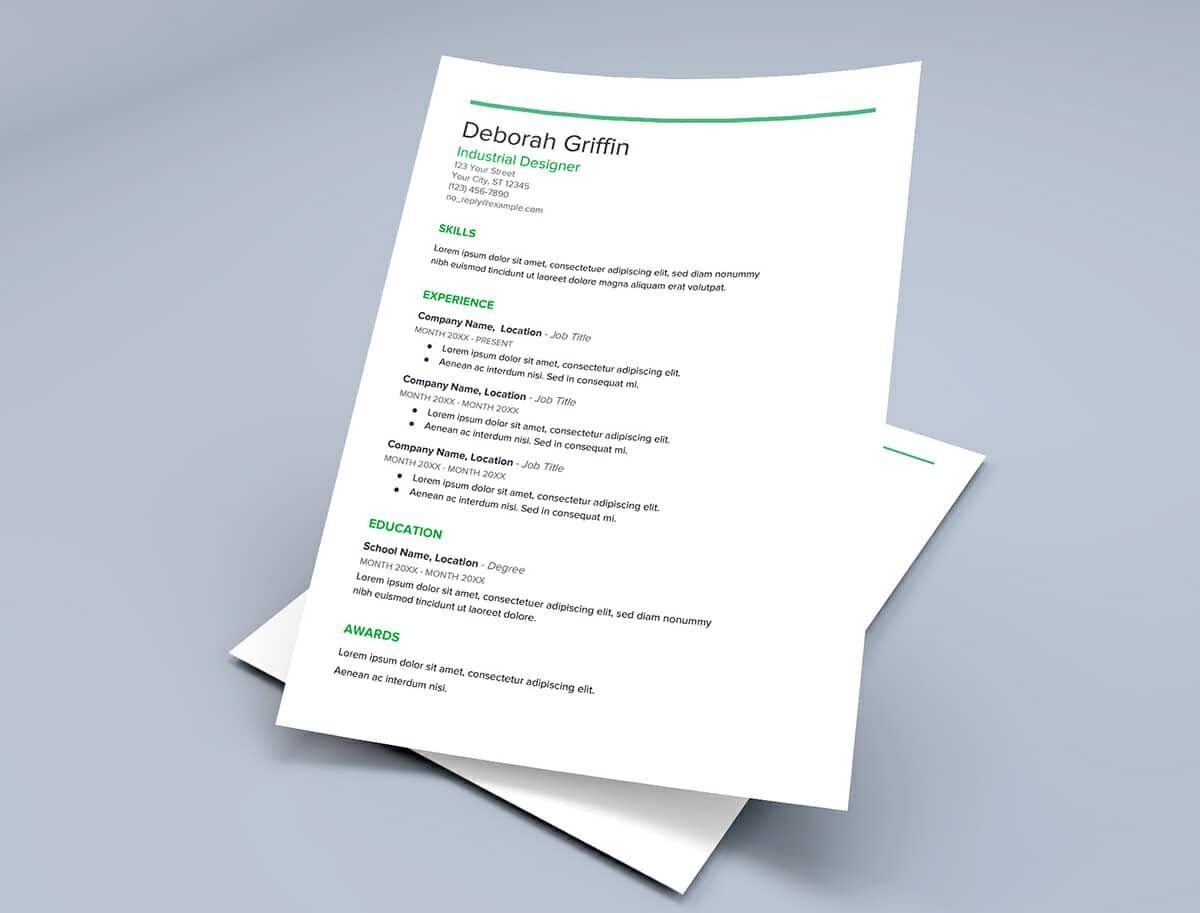 Google Docs Resume Templates 10 Free Formats To Download