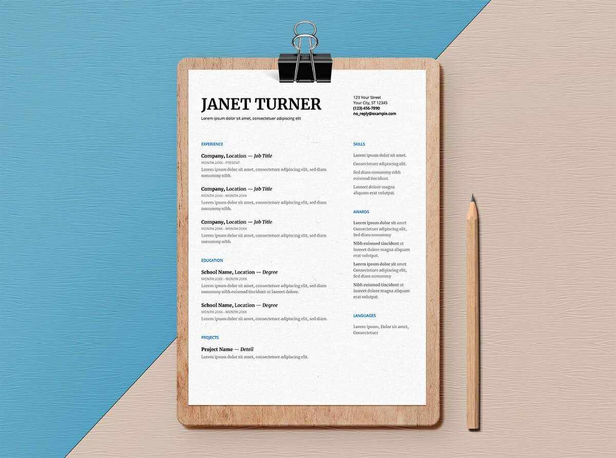 Resume Doc Format Google Docs Resume Templates 10 Free Formats To Download 2019