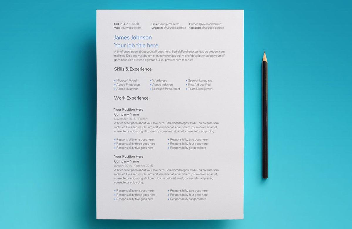 Free Resume Templates For Google Docs Google Docs Resume Templates 10 Free Formats To Download 2019