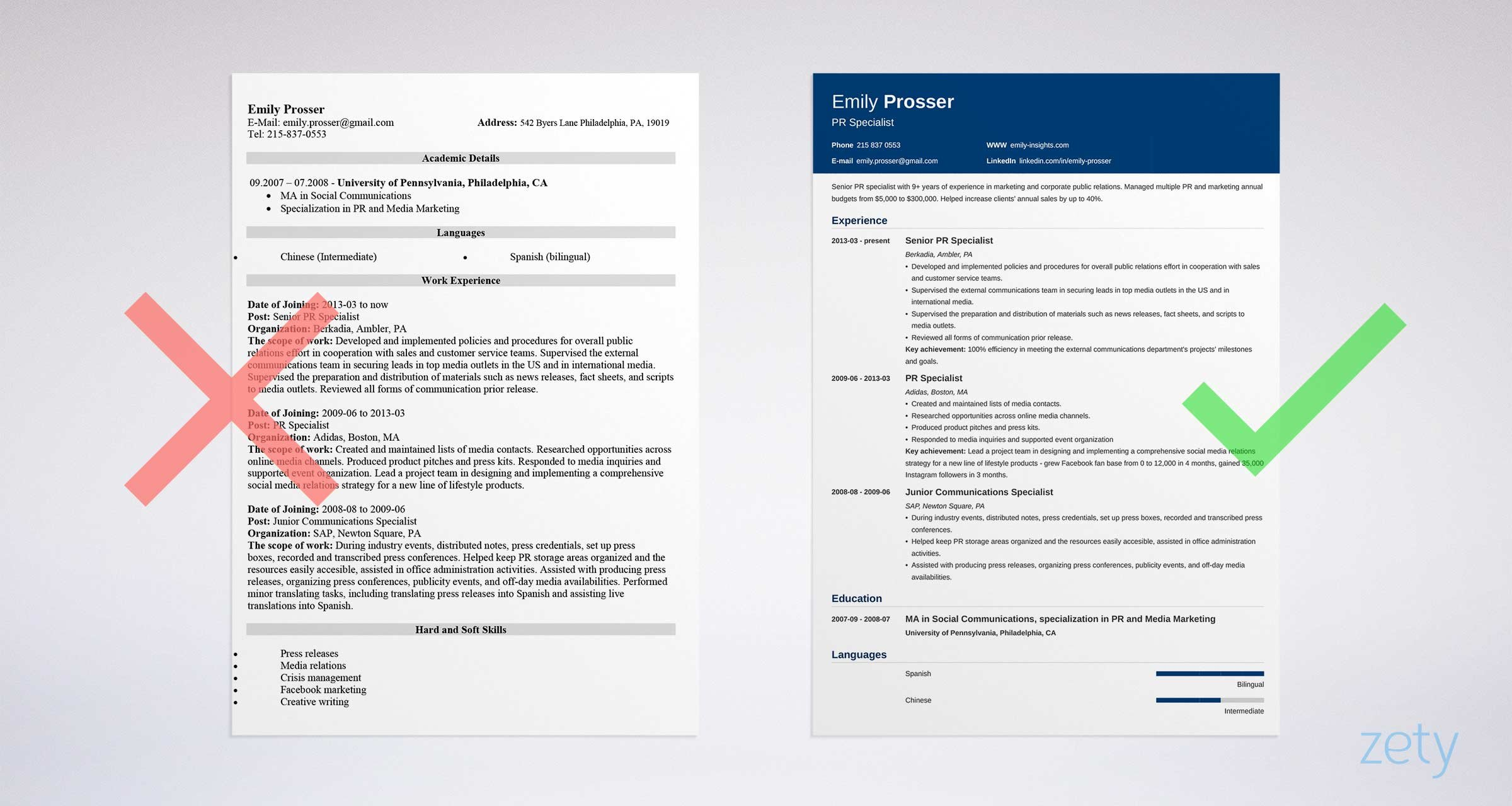 creating a college resumes