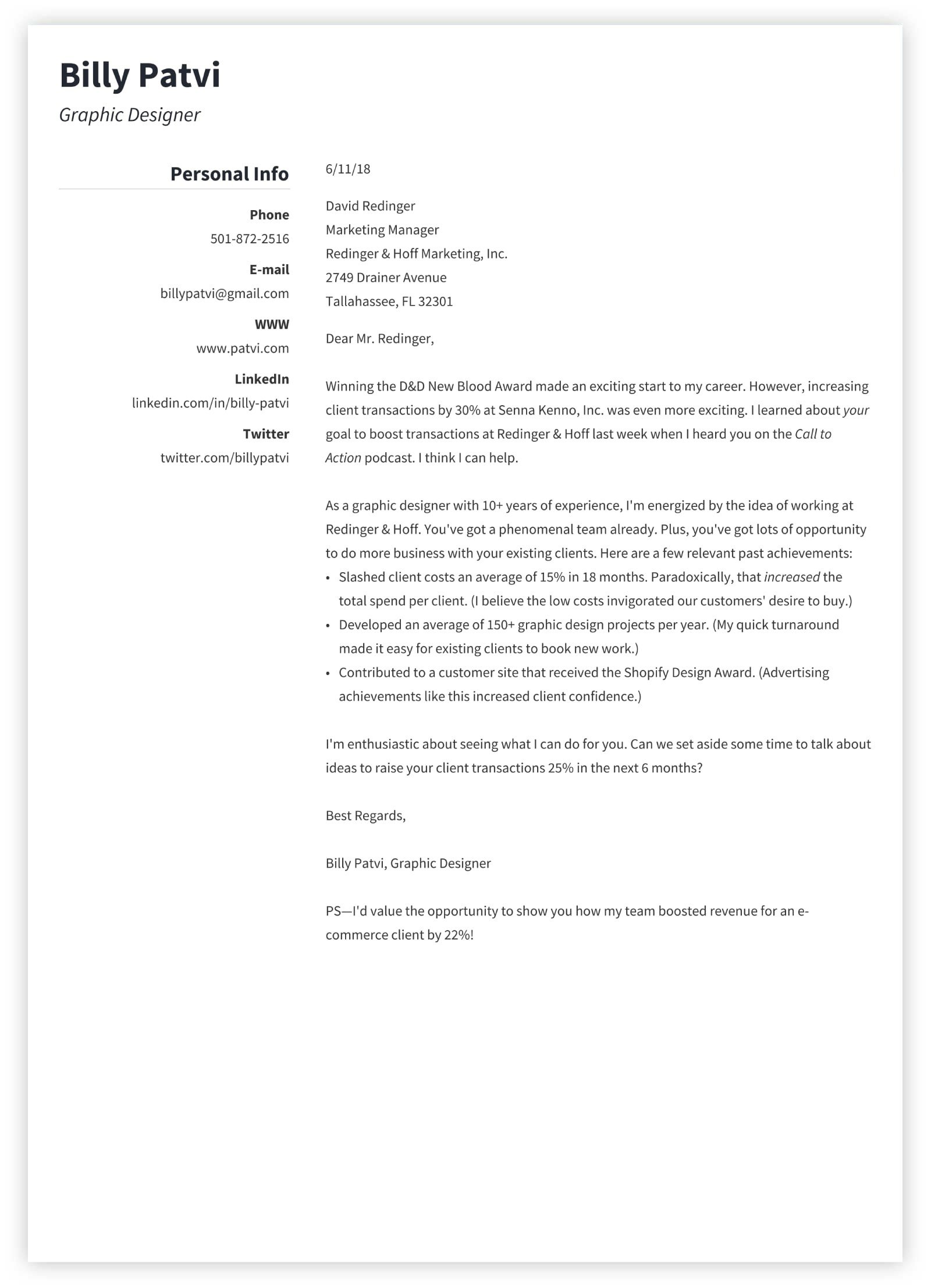 Cover Letter Resume Template Word Free