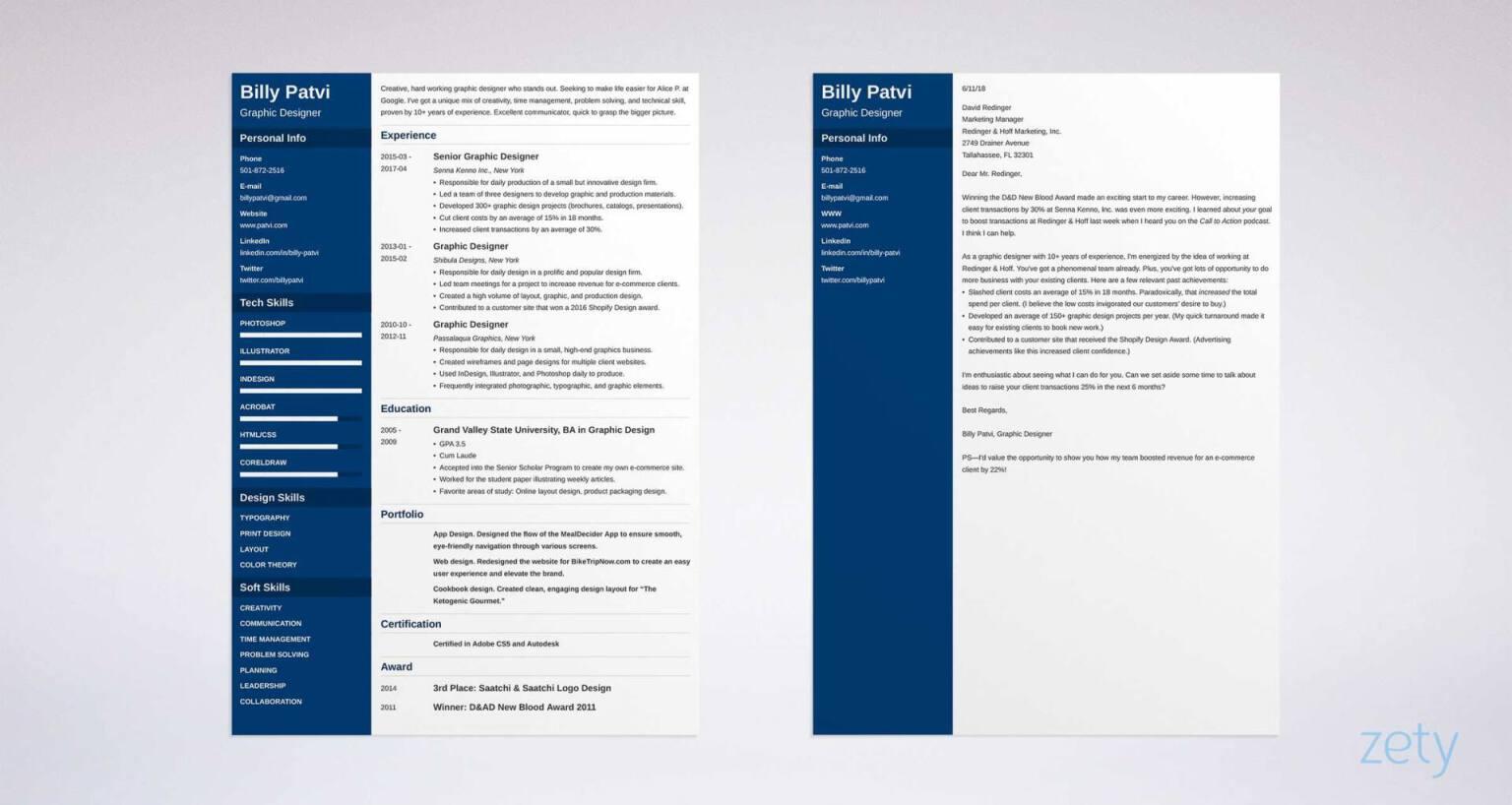 sample graphic design internship resume