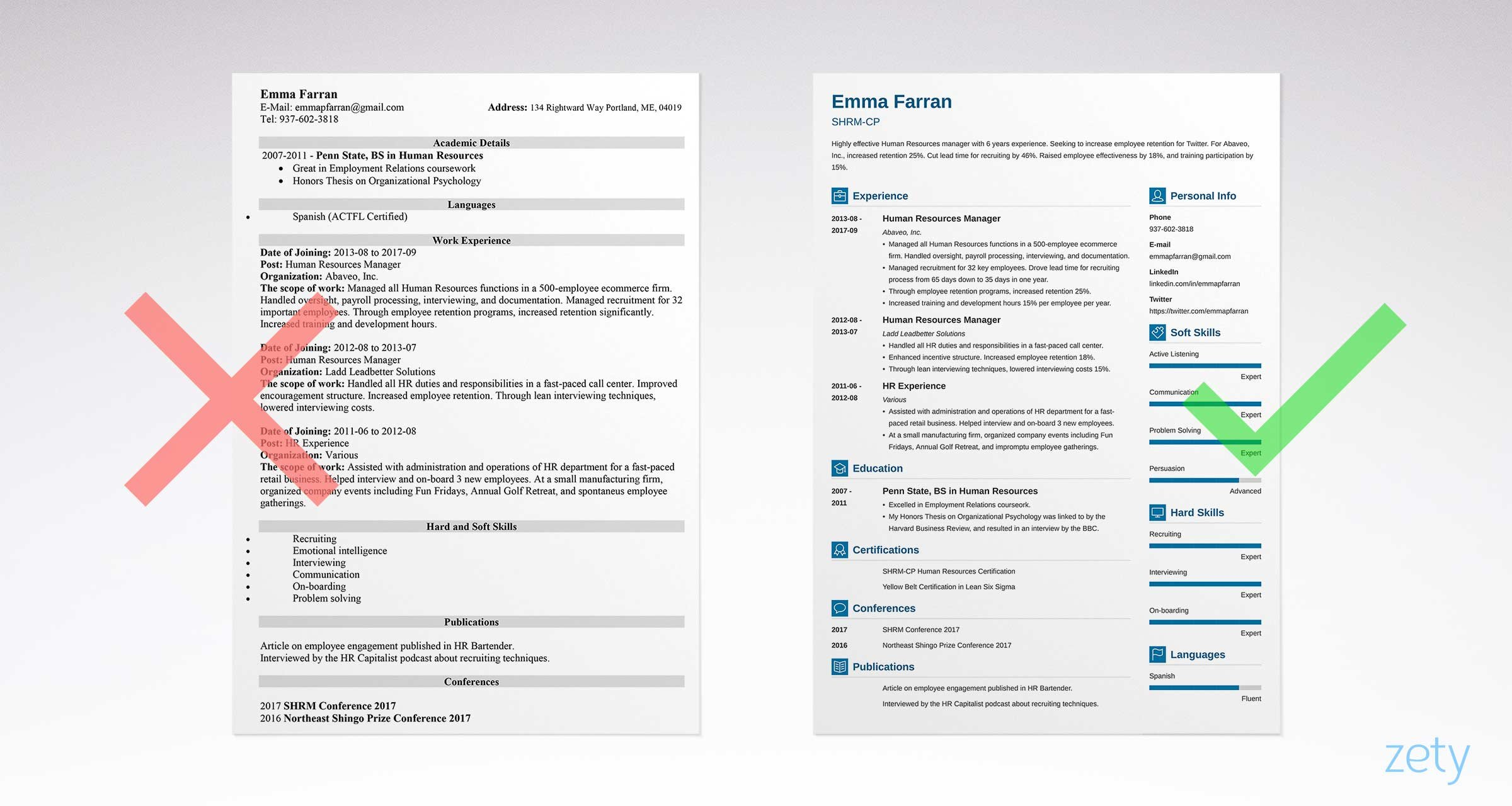 Easy Resume Great Resume Templates 15 Examples To Download Use Right Now