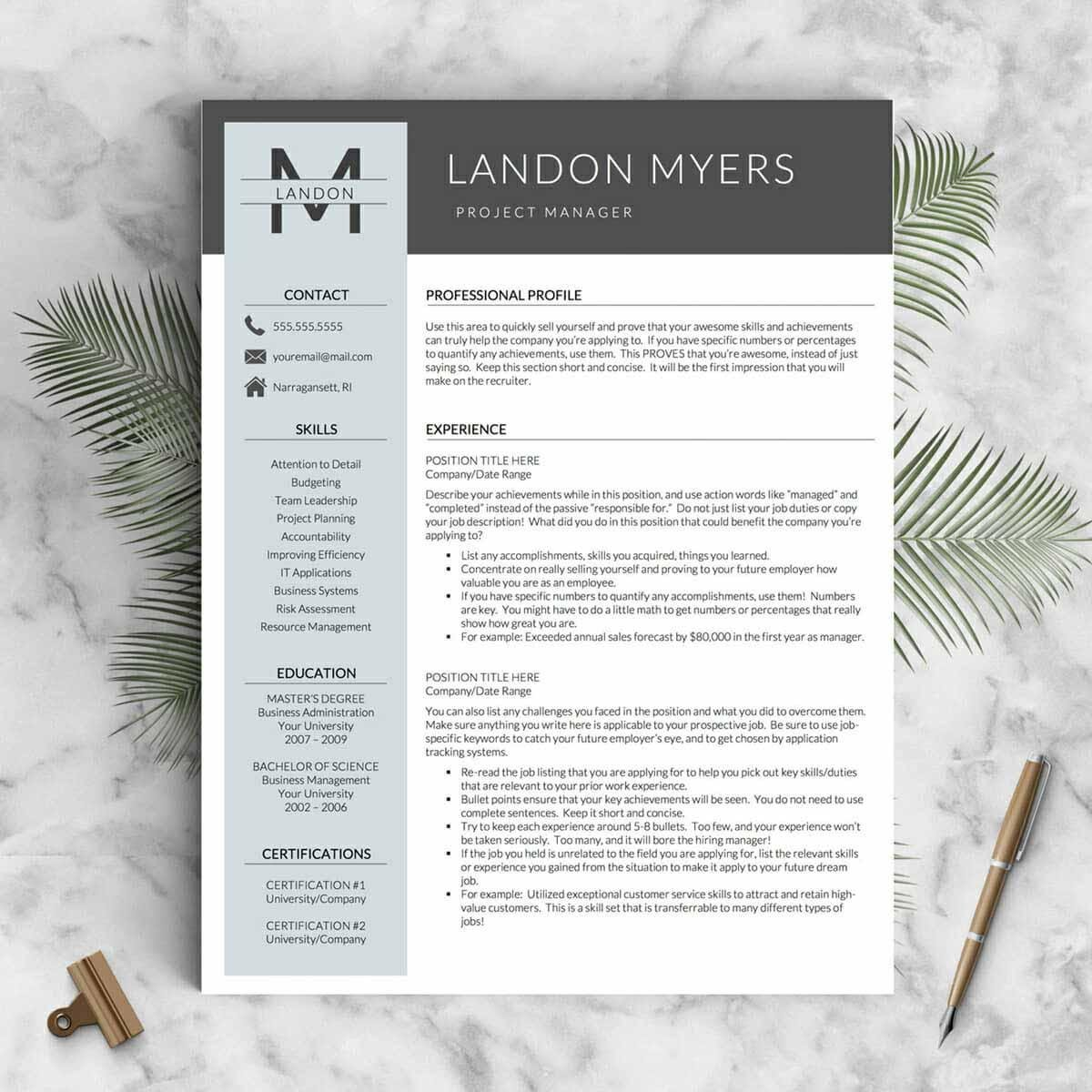 free microsoft word templates resume