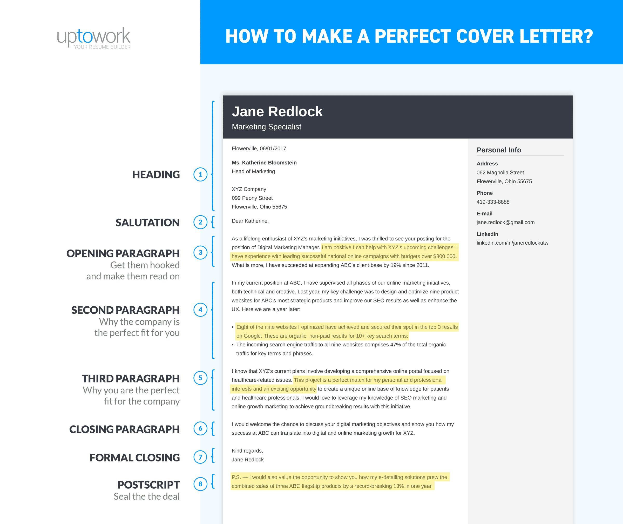 Simple Cover Page For Resume How To Write A Cover Letter In 8 Simple Steps 12 Examples