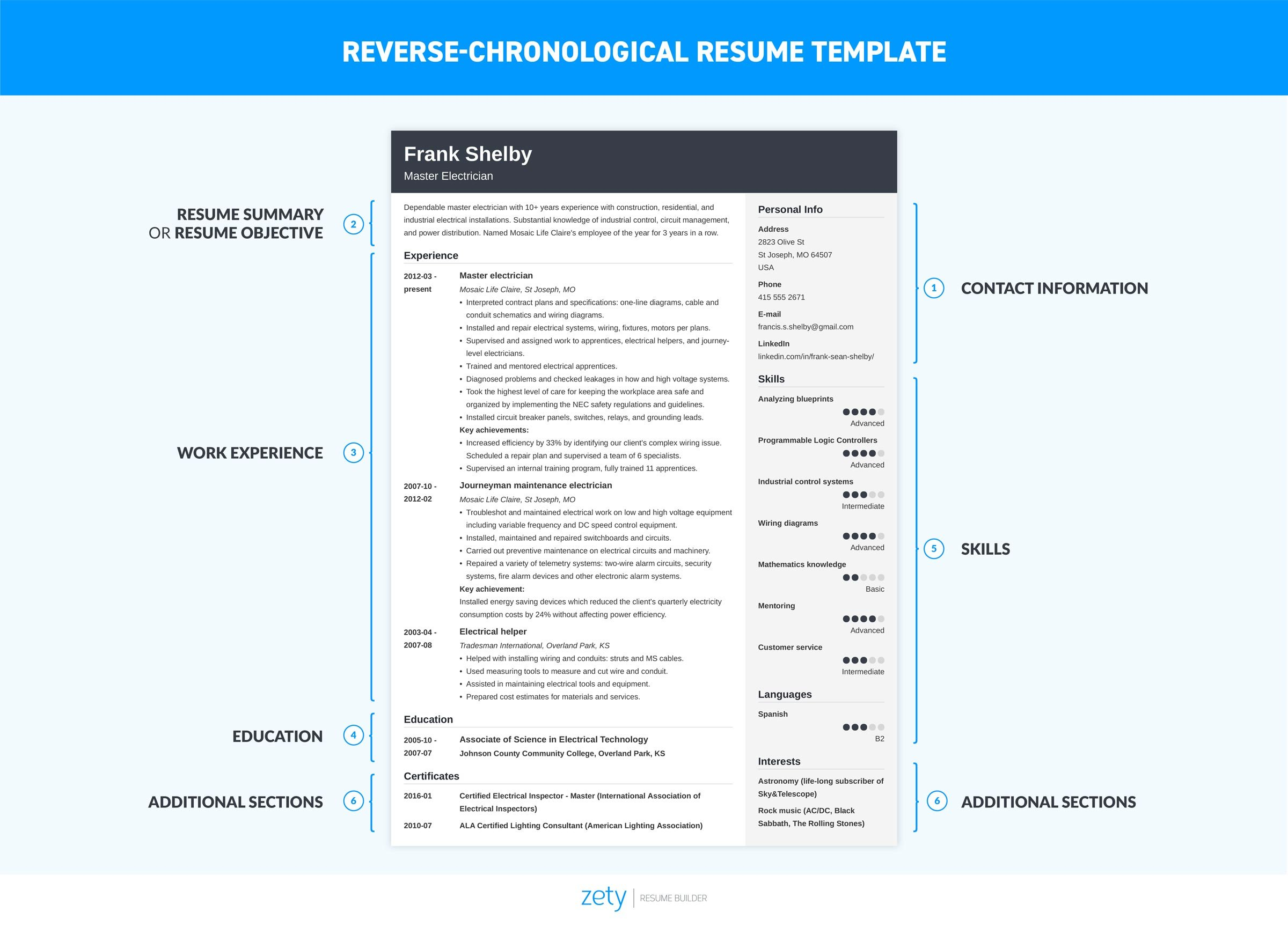 Examples Of A Chronological Resume Chronological Resume Template 20 Examples Complete Guide