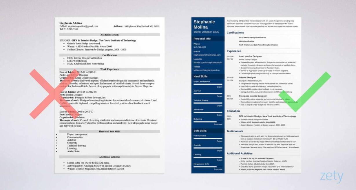 resume samples zety
