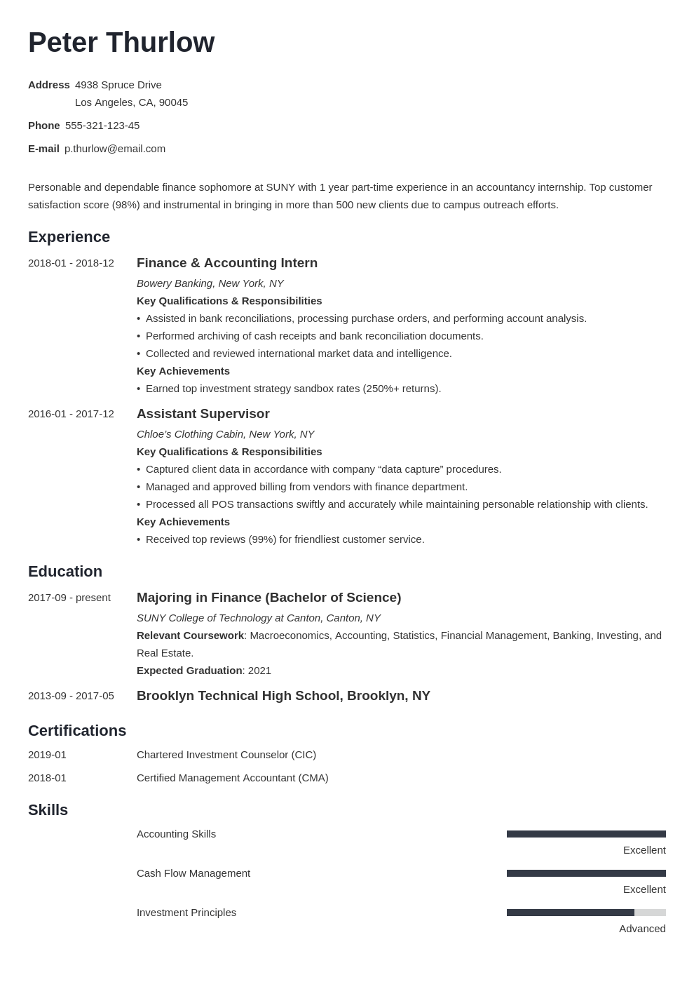Resume Format For Applying Internship Internship Resume For College Students Guide 20 Examples
