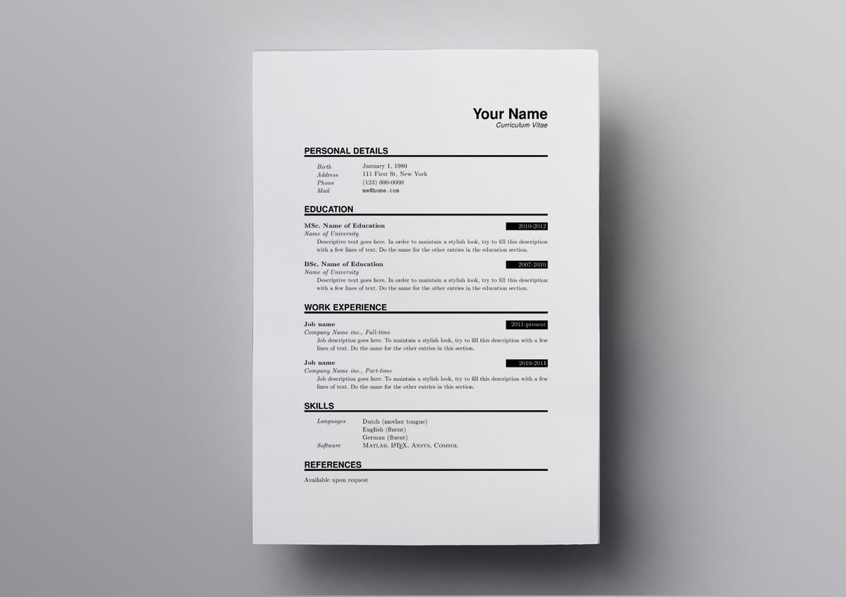 latex resume ats