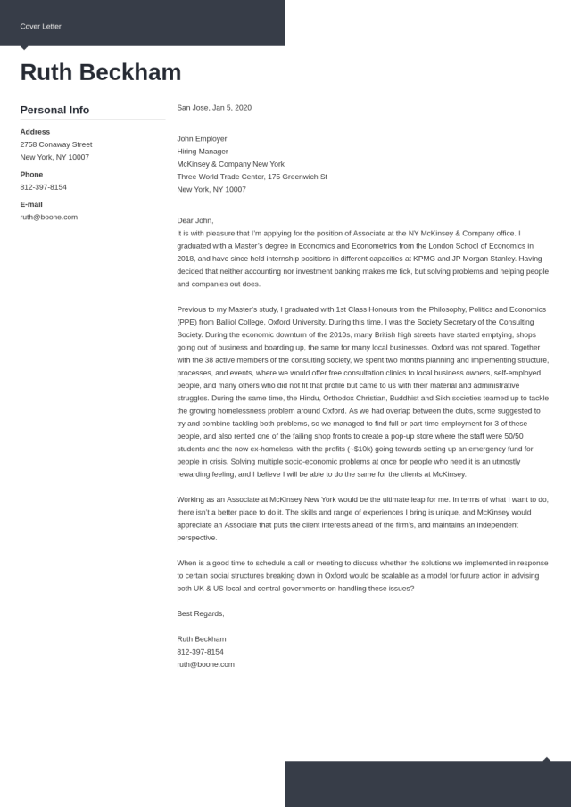 McKinsey Cover Letter: Sample and Writing Tips (22+ Examples)