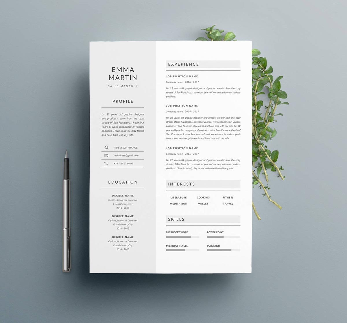 free resume templates i can download