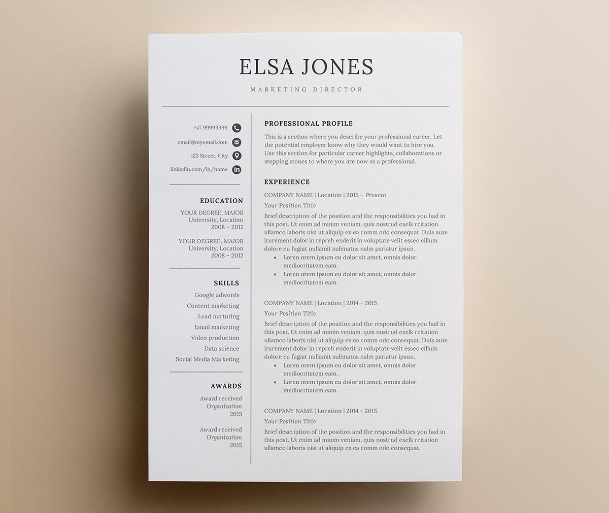 best resume layout examples