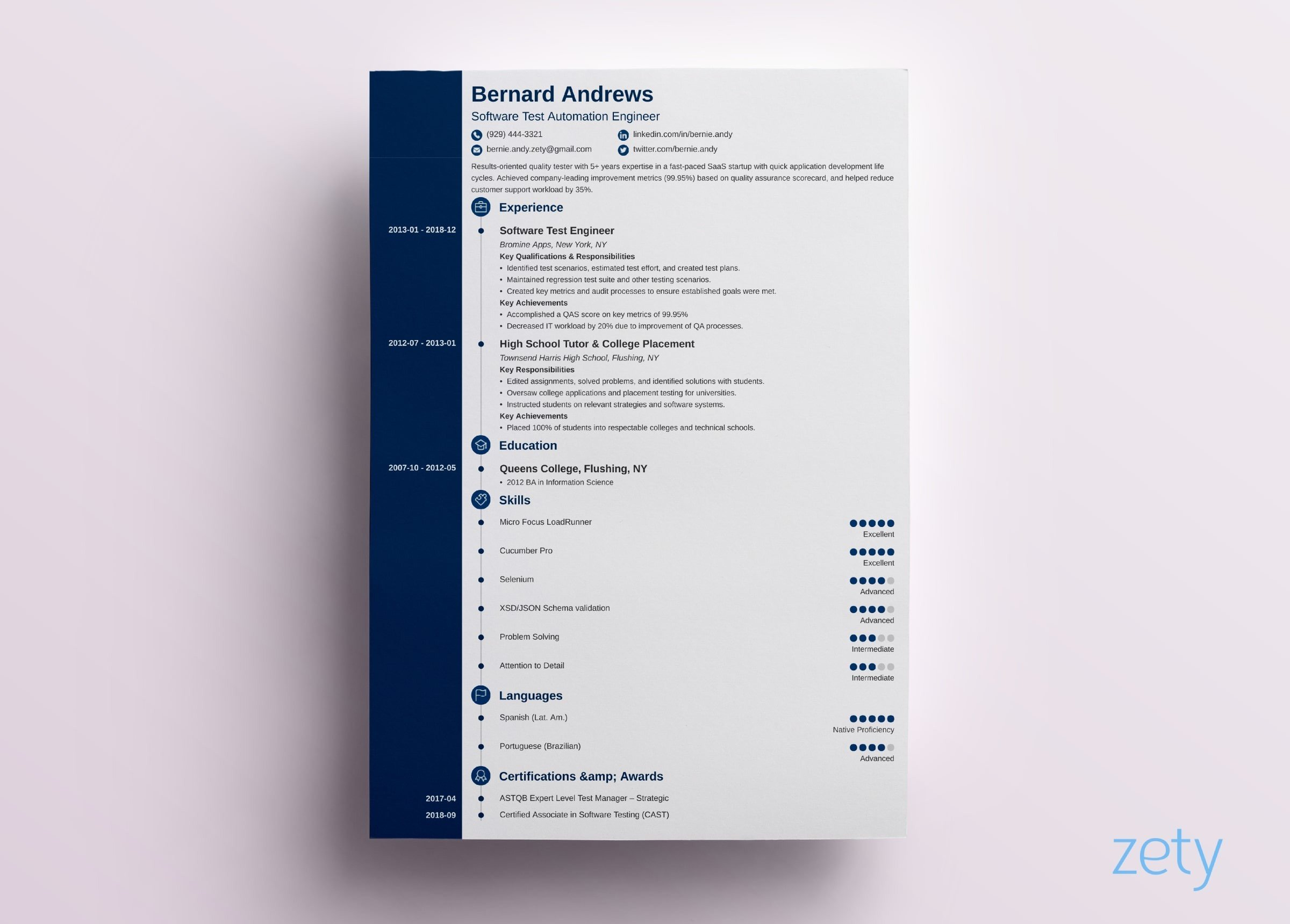 Simple Resumes Examples Modern Resume Templates 18 Examples A Complete Guide