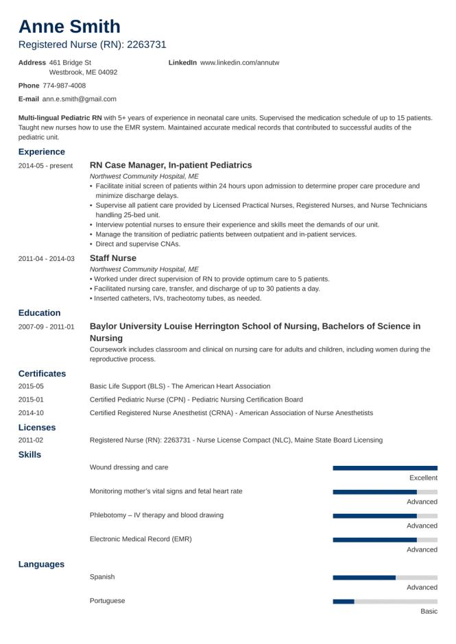 20 Nursing Resume Examples 2020