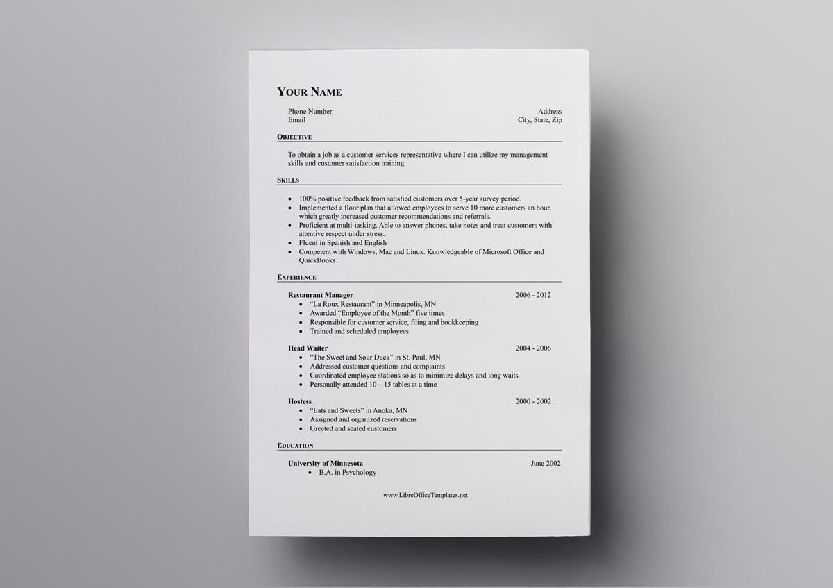 Most of the people are looking for free resume templates which can be edited with the libreoffice in linux. 10 Free Openoffice Resume Templates Also For Libreoffice