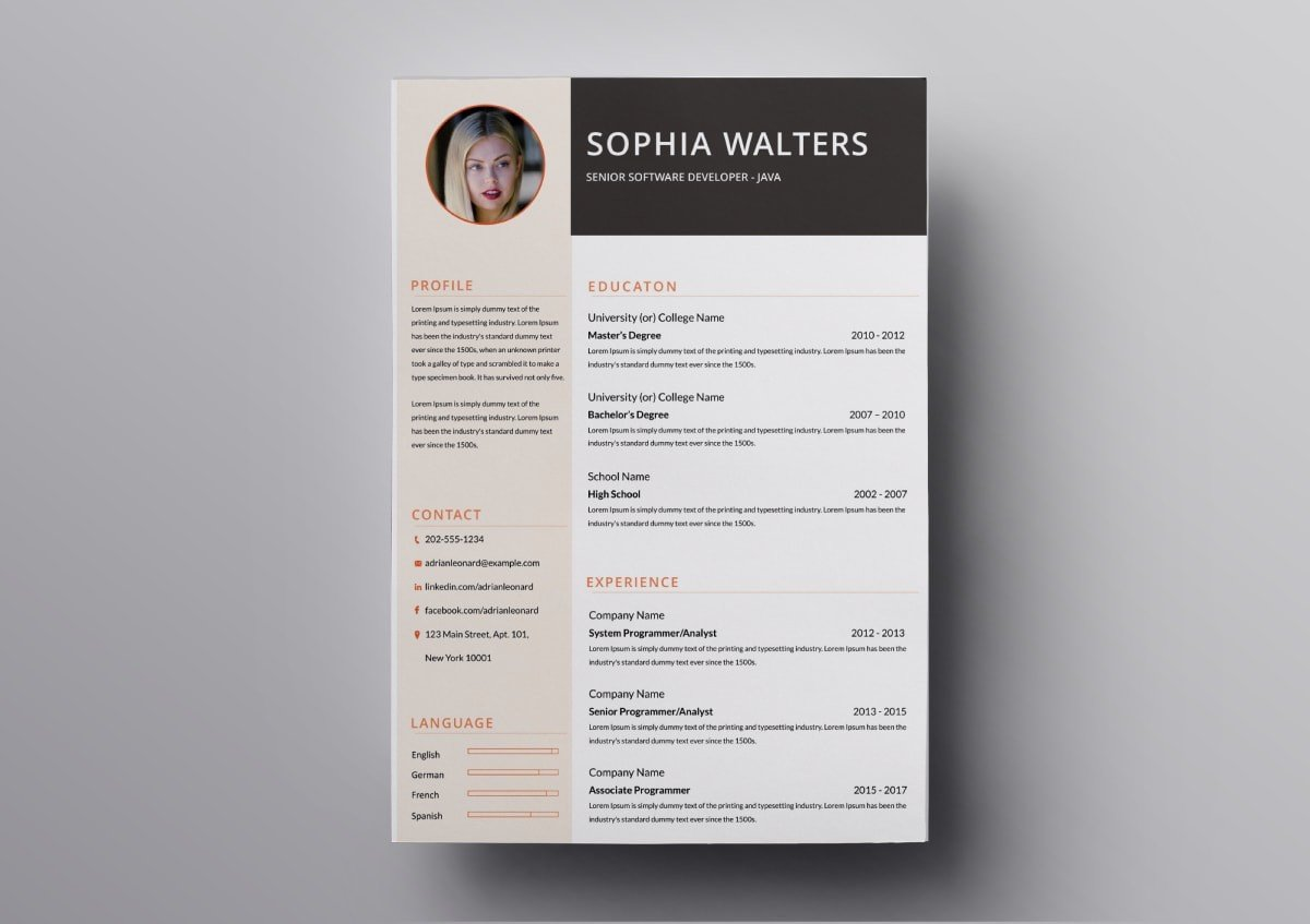 Pages Templates Resume Pages Resume Templates 10 Free Resume Templates For Mac