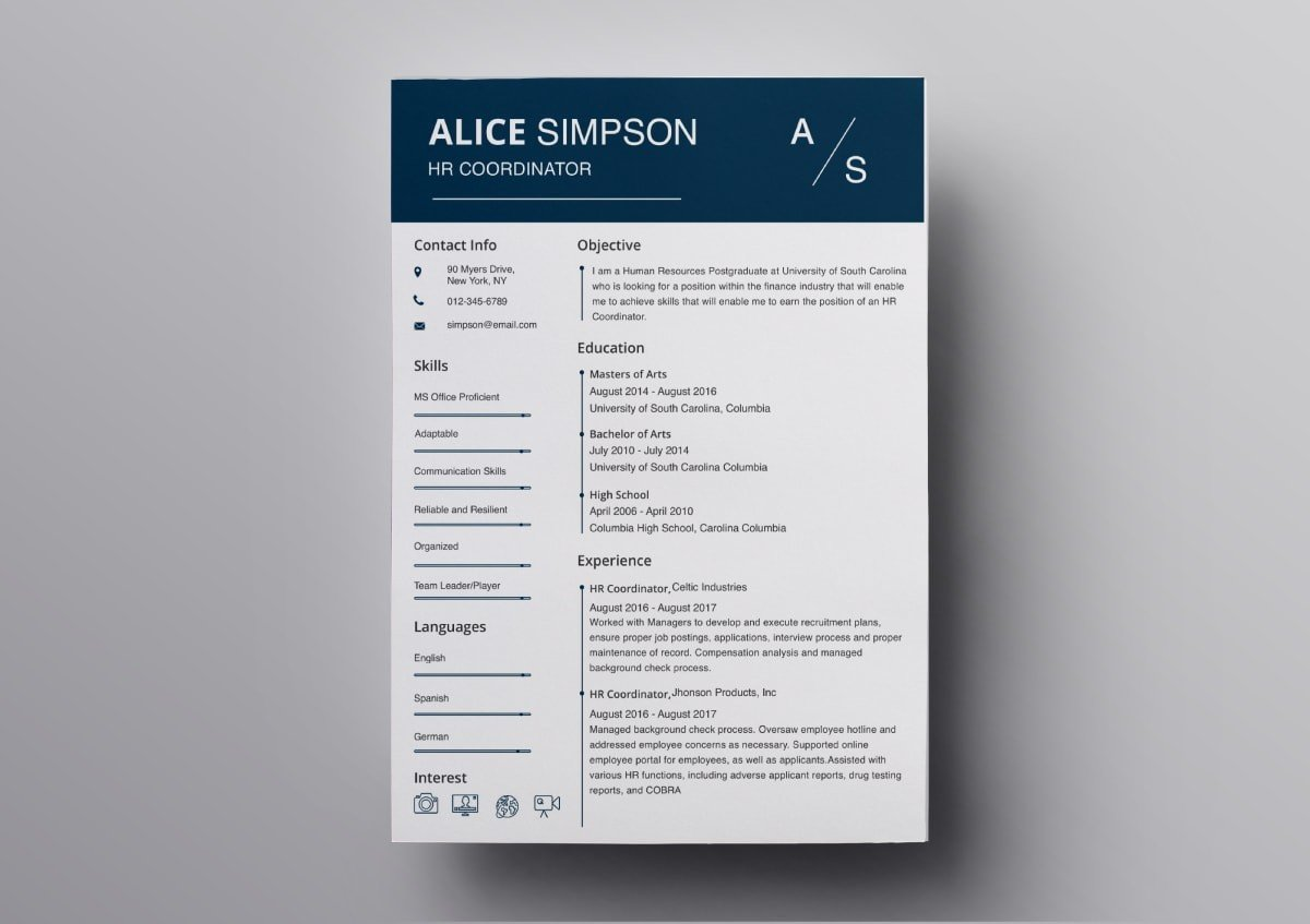 How To Make A Resume On A Mac Pages Resume Templates 10 Free Resume Templates For Mac
