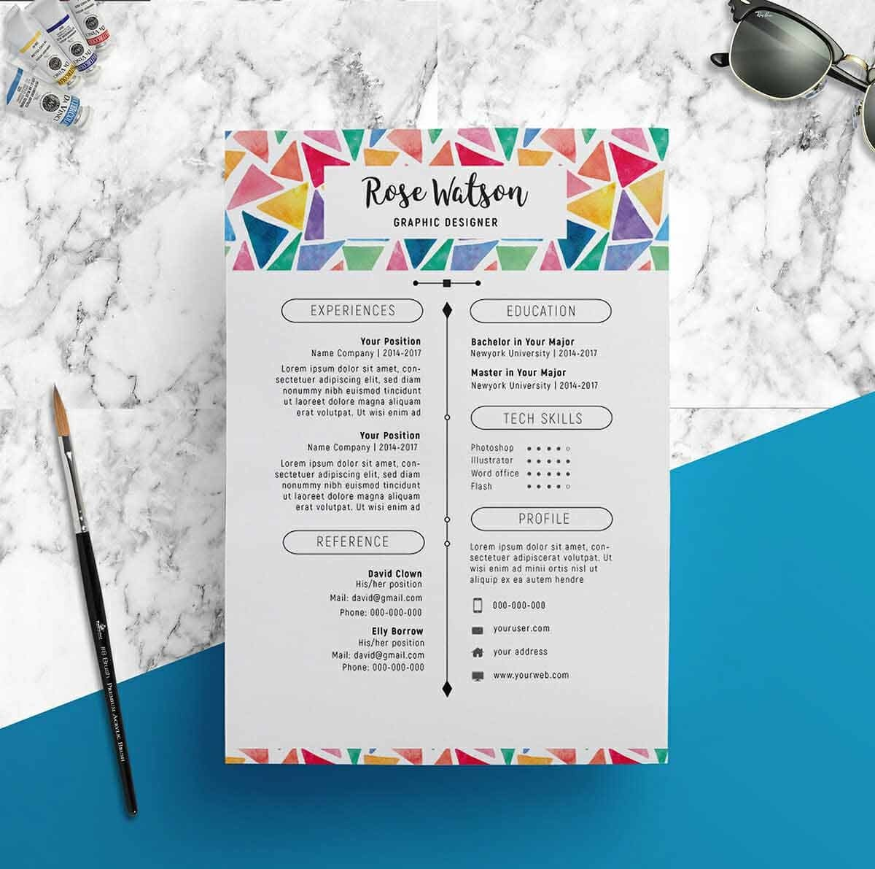 creative resume templates indesign