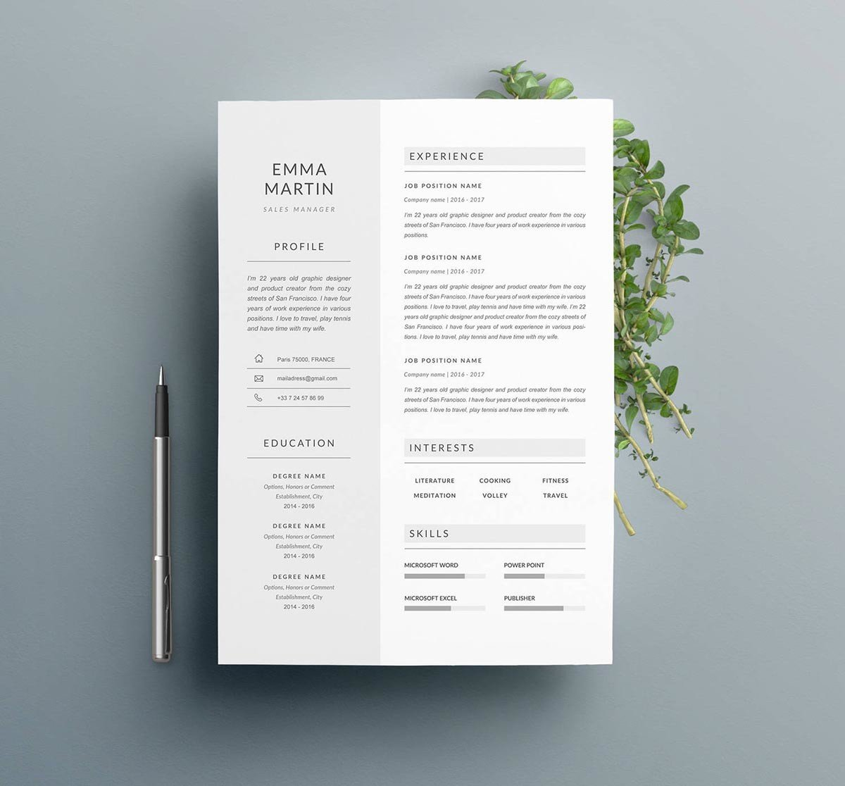 great resume templates 2019