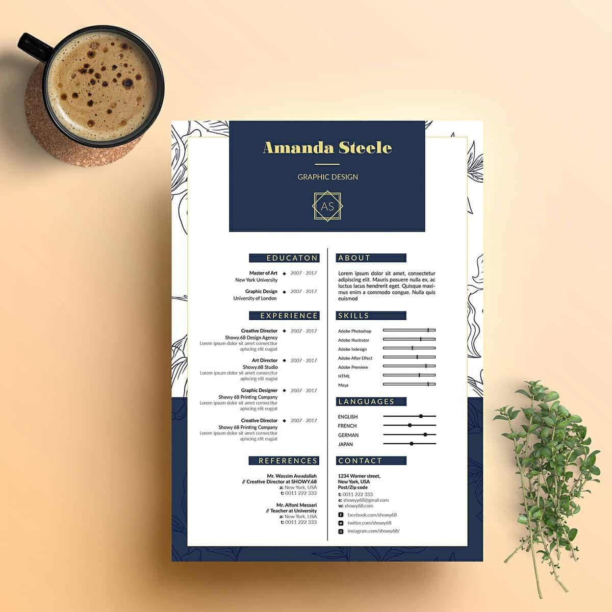 15 Resume Design Ideas Inspirations & Templates【How To