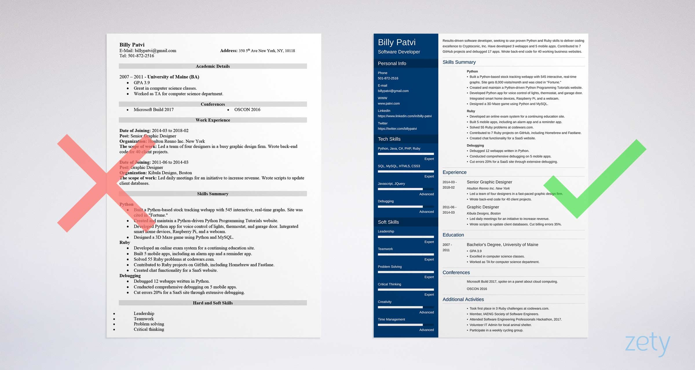 changing career resume template