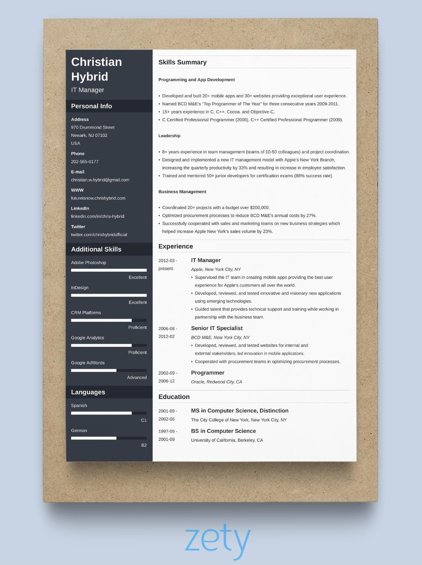 How To Format Experience On A Resume Resume Format Samples And Templates For All Types Of Resumes 10