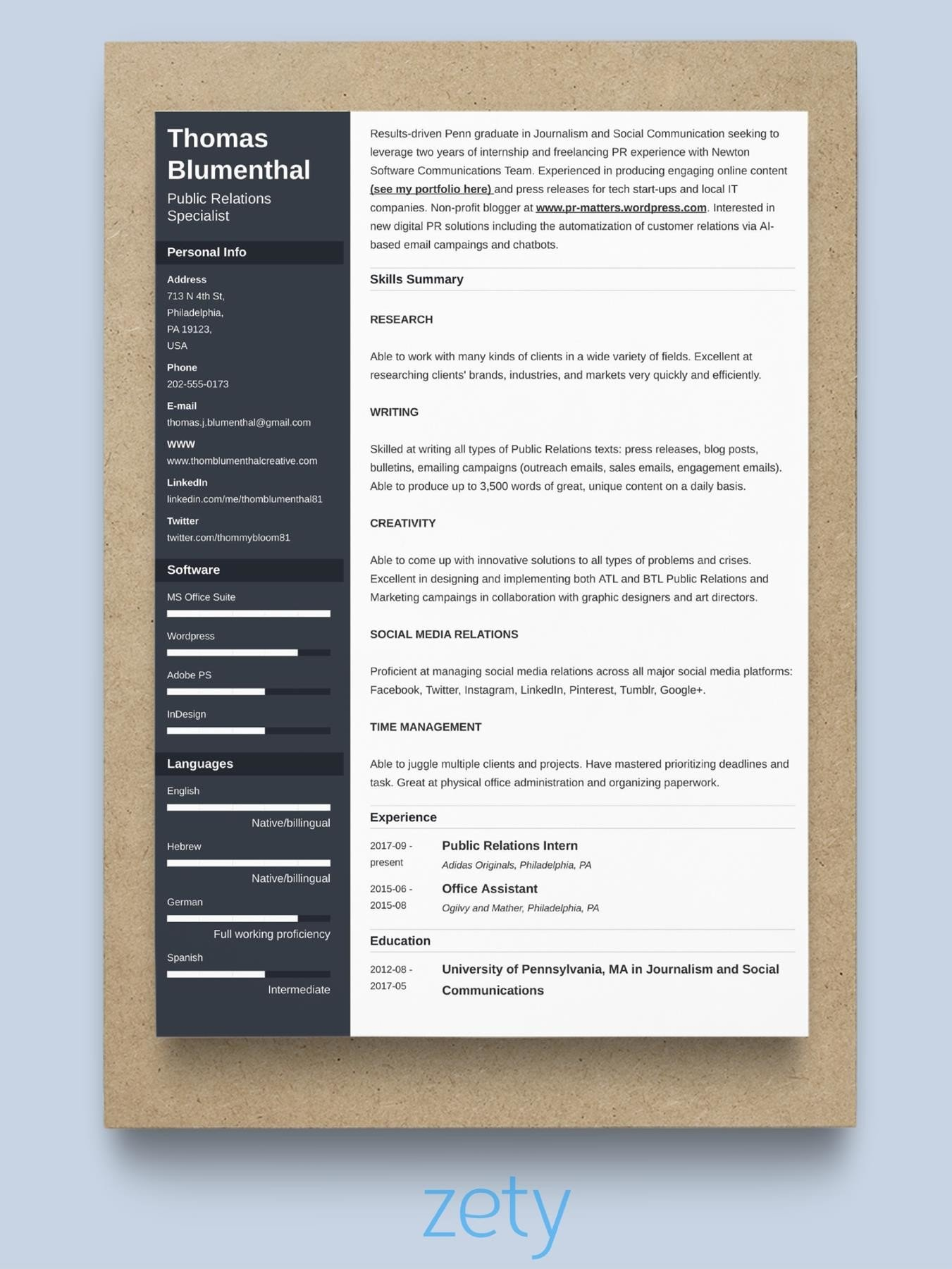 Standard Resume Format Template Resume Format Samples And Templates For All Types Of Resumes 10